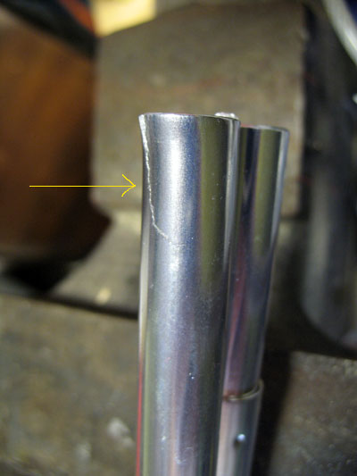 Cracked pole end & Backroad Navigator » Repairing an Aluminum Tent Pole